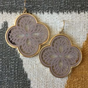Gold Filigree French Wire Earrings